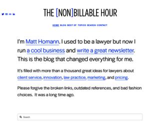 nonbillablehour.com screenshot