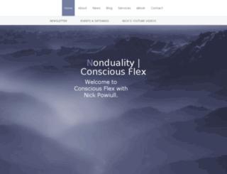 nonduality.consciousflex.com screenshot