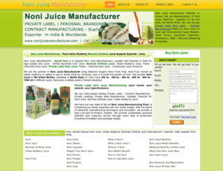 nonijuicemanufacturer.com screenshot