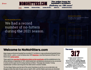 nonohitters.com screenshot