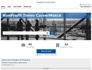 nonprofitjobseeker.com screenshot