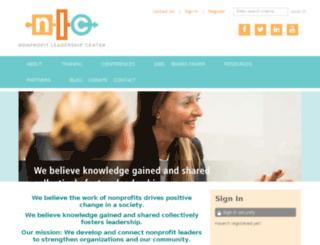 nonprofitleadershipcenter.site-ym.com screenshot