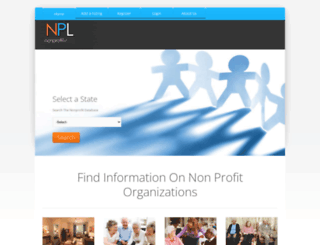 nonprofitlist.org screenshot