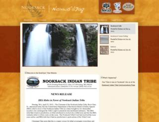 nooksackindiantribe.org screenshot