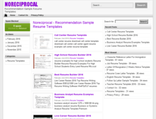 noreciprocal.com screenshot