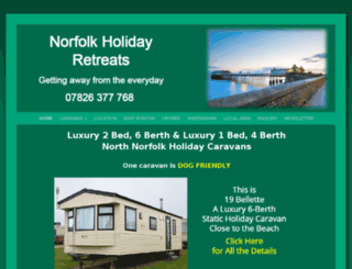 norfolk-holiday-retreats.co.uk screenshot