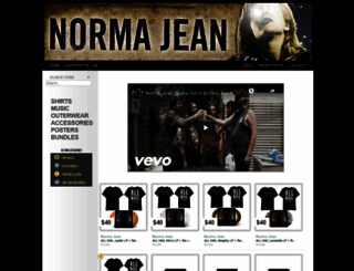 normajean.merchnow.com screenshot