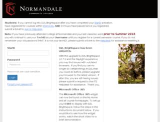 normandale.ims.mnscu.edu screenshot