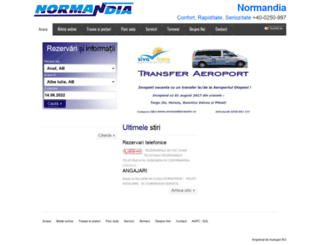 normandia.autogari.ro screenshot