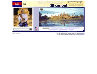 norodomsihamoni.org screenshot