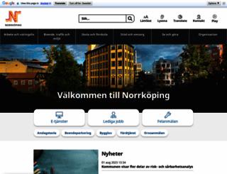 norrkoping.se screenshot