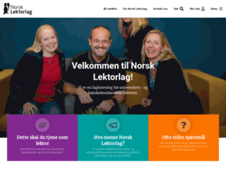 norsklektorlag.no screenshot
