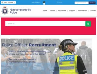 northants.police.uk screenshot