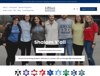 northcarolina.hillel.org screenshot