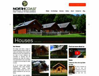 northcoastlogcabins.com screenshot