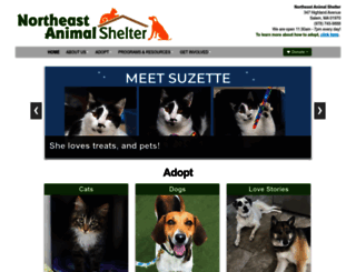 northeastanimalshelter.org screenshot