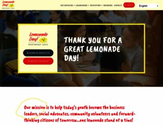 northeastohio.lemonadeday.org screenshot