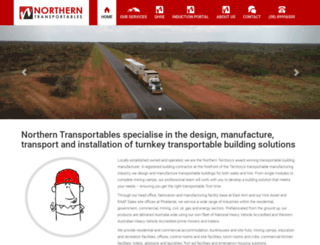 northerntransportables.com screenshot