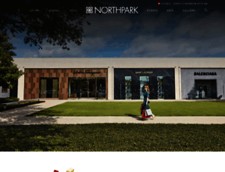 northparkcenter.com screenshot