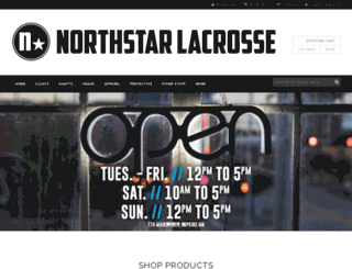 northstarlacrosse.com screenshot