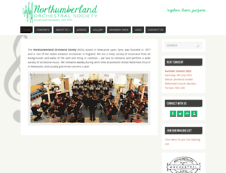 northumberlandorchestralsociety.org.uk screenshot
