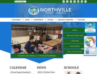 northvilleschools.org screenshot
