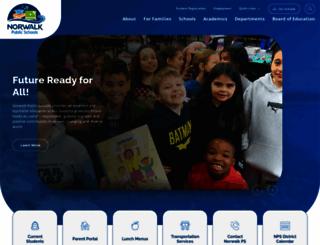 norwalkps.org screenshot