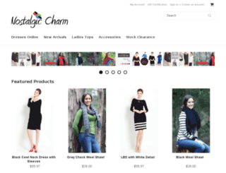 nostalgiccharm.com.au screenshot