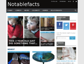 notablefacts.com screenshot