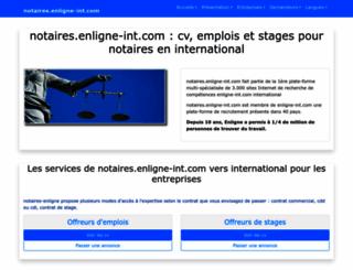 notaires.enligne-int.com screenshot