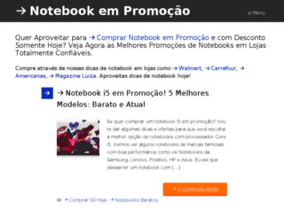 notebookempromocao.com screenshot