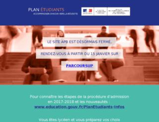 notes.admission-postbac.fr screenshot