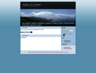 noteshelp.wordpress.com screenshot