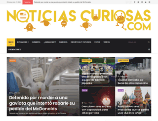 noticiascuriosas.com screenshot