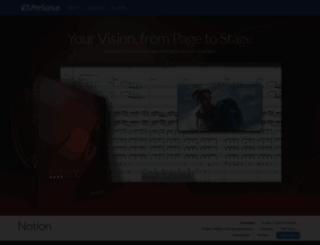 notionmusic.com screenshot