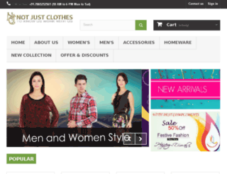 notjustclothes.com screenshot