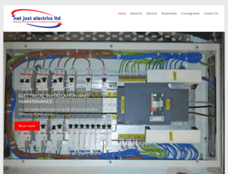 notjustelectrics.com screenshot