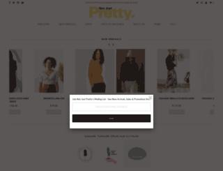 notjustpretty.com screenshot