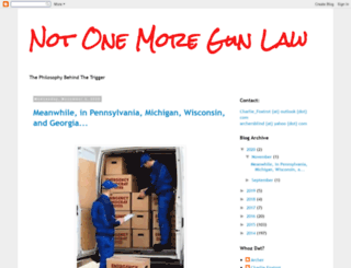 notonemoregunlaw.blogspot.com screenshot
