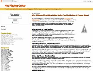 notplayingguitar.com screenshot