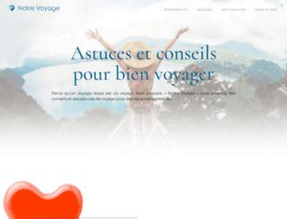 notre-voyage.fr screenshot