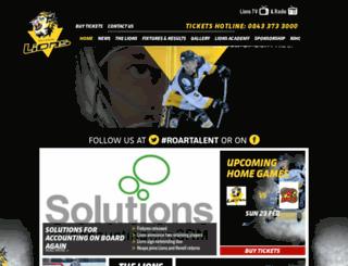 nottinghamlions.co.uk screenshot