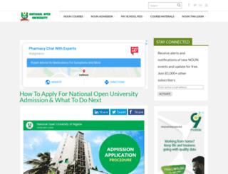 nounportal.com.ng screenshot