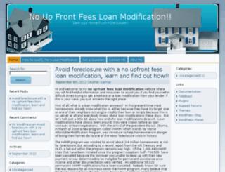noupfrontfeesloanmodification.com screenshot