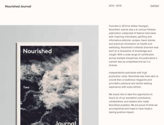 nourishedjournal.com screenshot