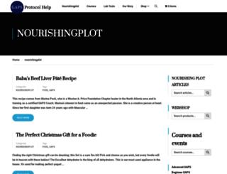nourishingplot.com screenshot