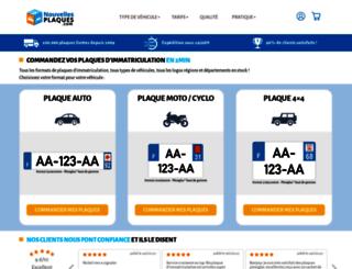 nouvellesplaques.com screenshot