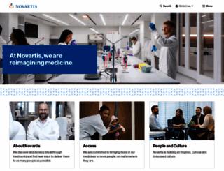 novartis.com screenshot