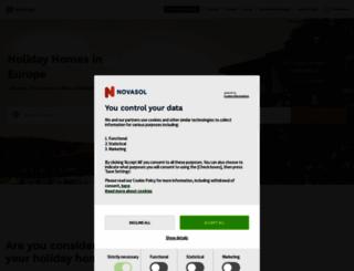 novasol.com screenshot