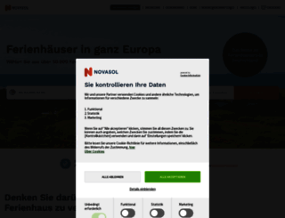 novasol.de screenshot